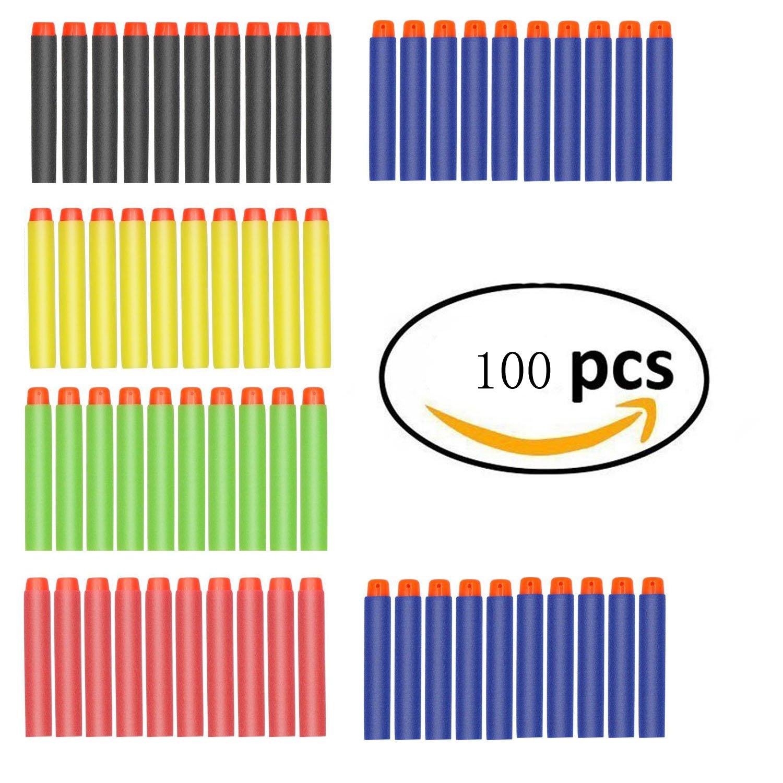 100 Stück -5 Farben, Refill Einschuss Darts 2.84in / 7.2cm Kompatibel Dart Nachfüllpack für Nerf N-Strike Elite-Serie 100 Stück -5 Farben Yanghai