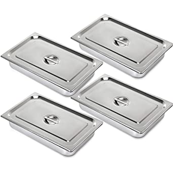 6 PCS 20x12x6in HVUE Set of 6 Hotel Pan 6 Deep Steam Table Pan Full Size 20x12x6 Inch Stainless Steel Anti Jam Steam Table Pan Hotel Pan for Hotels Restaurant