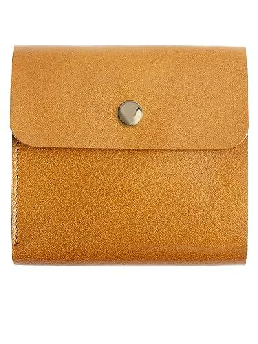 ce12ea334065 MIRACOLO イタリアンレザー 薄い 二つ折り財布 本革 フラップボタン 薄型 ミニ財布 コンパクト ウォレット