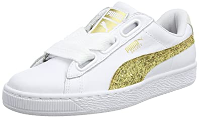 puma heart basket gold