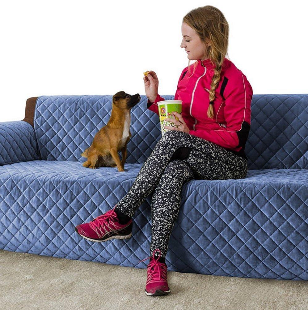 LOHUA LOHUA LOHUA Wasserfest Sesselschoner Anti-Rutsch Schonbezug Mit Armlehnen Doppelseitig Sesselauflage Sesselschutz 3 Sitzer Sofa Matte Für Hunde Katzen B07DMY7LJ1 Sofa-überwürfe a67559