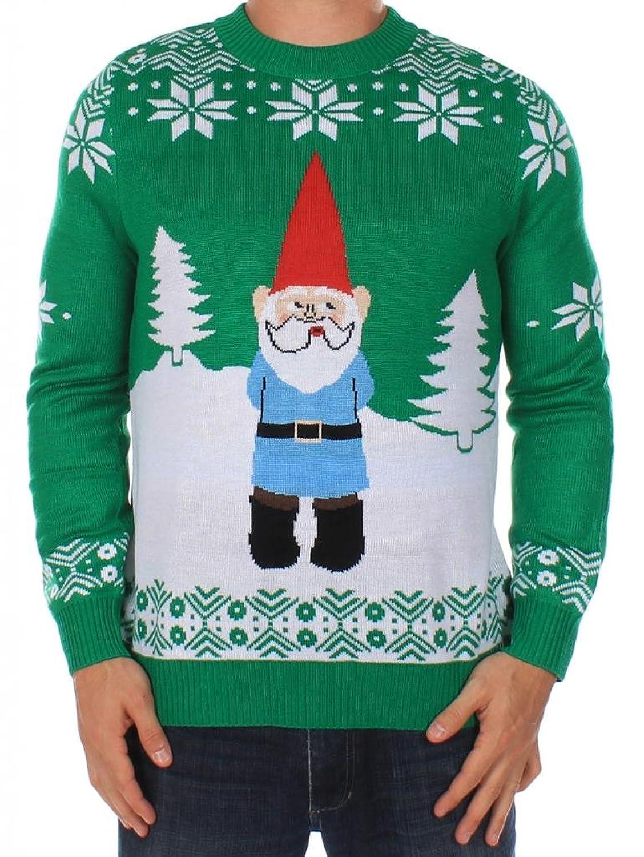 Verdachtiger Gartenzwerg Herren-Weihnachtspullover