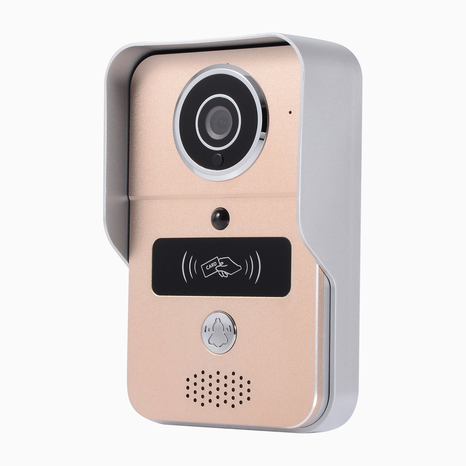 WIFI Video Doorbell , 720P HD Smart Wireless Alarm Security System, Camera and PIR Motion Detection, Night Vision,two-way Audio&Video ,Smart lock IC Card, support IOS and Android