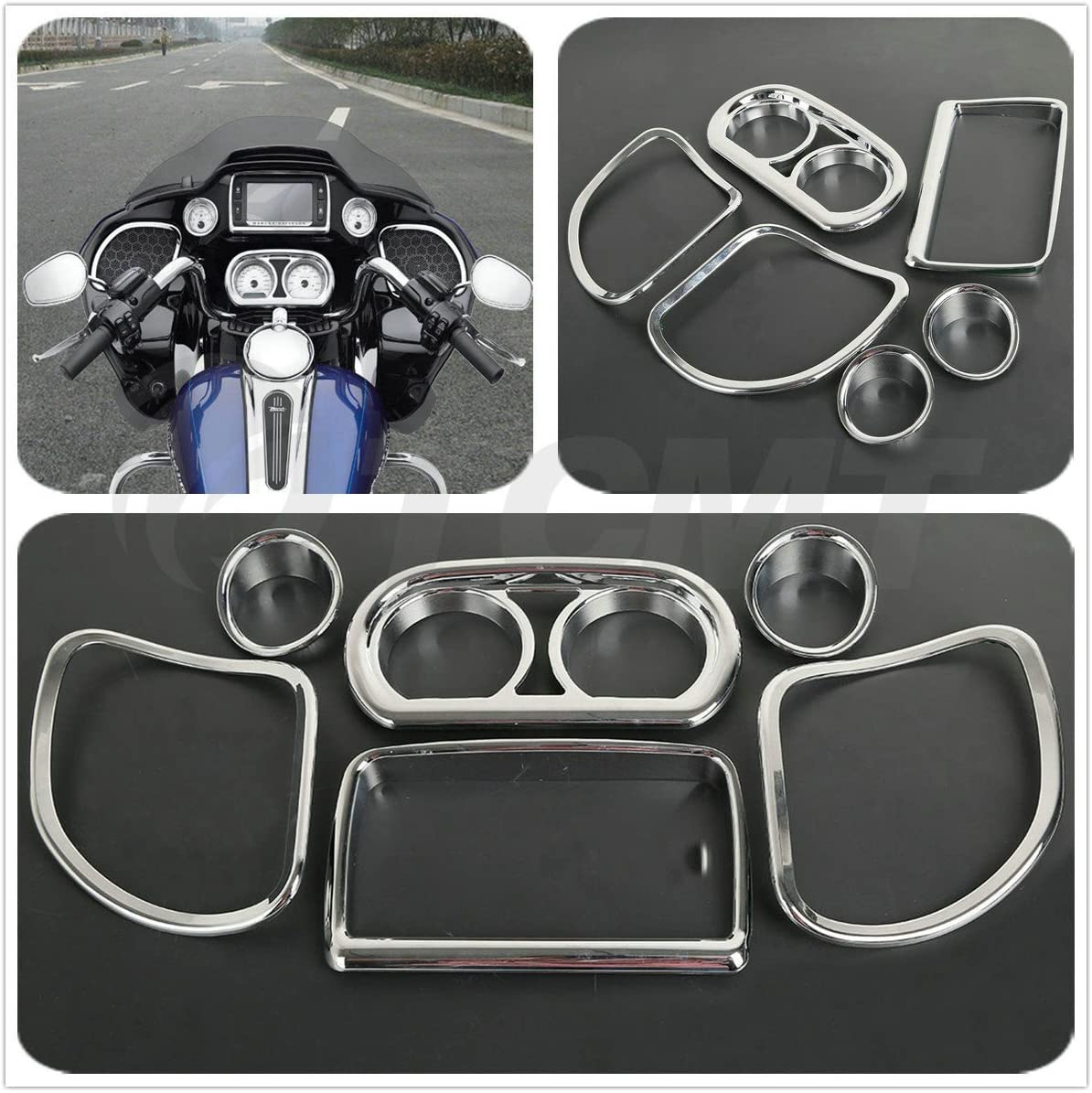 Replaces : 61400296 XMT-MOTO Inner Fairing Speedometer Radio Speaker Trim Kit For Harley Road Glide FLTRX 2015-2018,Road Glide Special FLTRXS 2015-2018,Road Glide Ultra FLTRU 2016-2017