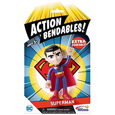 "NJ Croce AB5002 Action Bendables Superman, Figure, 4"", Multicolor: Toys & Games"