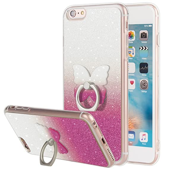 amazon com iphone 6 6s plus case pink, iphone 6 6s plus glitteriphone 6 6s plus case pink, iphone 6 6s plus glitter case with
