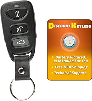 KeylessOption Keyless Entry Remote Control Car Key Fob Alarm Clicker for Hyundai Accent Elantra GT TQ8-RKE-3F03