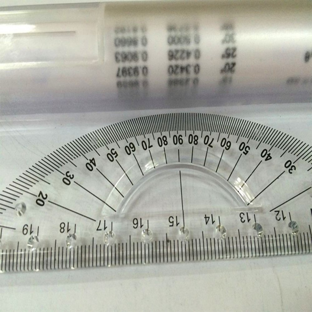 Kcopo Multipurpose Drawing Parallel Rolling Ruler Balancing Scale 30cm Type Drawing Tool Squares Angle Parallel Line Acrylic Glass Protractor