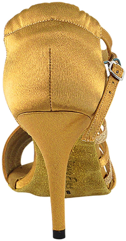 Very Fine 3 Heel 5.5 M US Womens Ballroom Dance Shoes Tango Wedding Party Latin Salsa Dance Shoes Brown Satin /& Gold Glitter 2824LEDSSEB Comfortable Bundle of 5