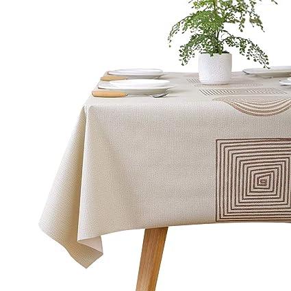 Amazon Com Leevan Square Heavy Duty Vinyl Tablecloth Waterproof