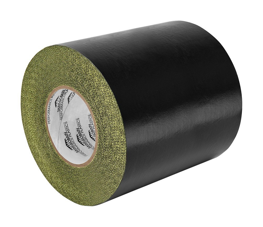 TapeCase 0.5-5-SG56-05 Black Fiberglass-PTFE Impregnated Fabric Tape SG56-05, 5 Yd Length, 0.5' Width 0.5 Width