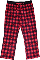 Womens Red Plaid Deer Print Flannel Sleep Pants Lounge   Pajama Bottoms 898fc2740