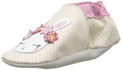 a5014a8a649d Robeez Baby Girls  White Rabbit Birth Shoes