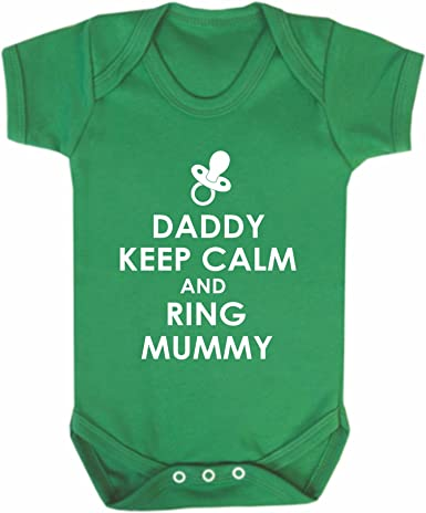 Reality Glitch Daddy Keep Calm Babygrow