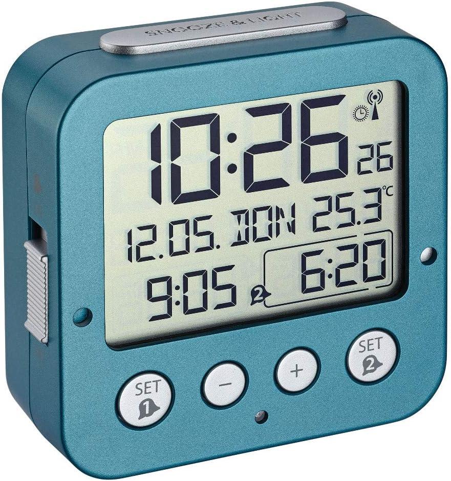 Color Blanco peque/ño Radiodespertador TFA Dostmann 60.2539.20 TFA