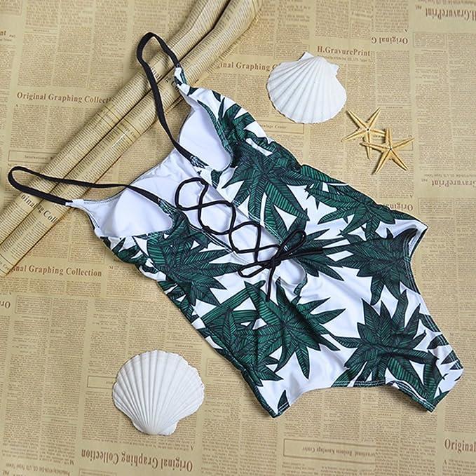 Greenwind Traje de ba/ño Cover Ups para Mujer Traje de ba/ño de una Pieza para Mujer Ropa de Playa Traje de ba/ño Push Up Monokini Bikini Bathing