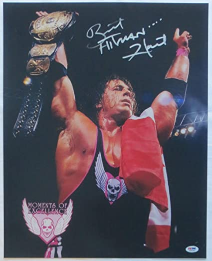 a807c146e19 Image Unavailable. Image not available for. Color  Bret The Hitman Hart  Signed ...