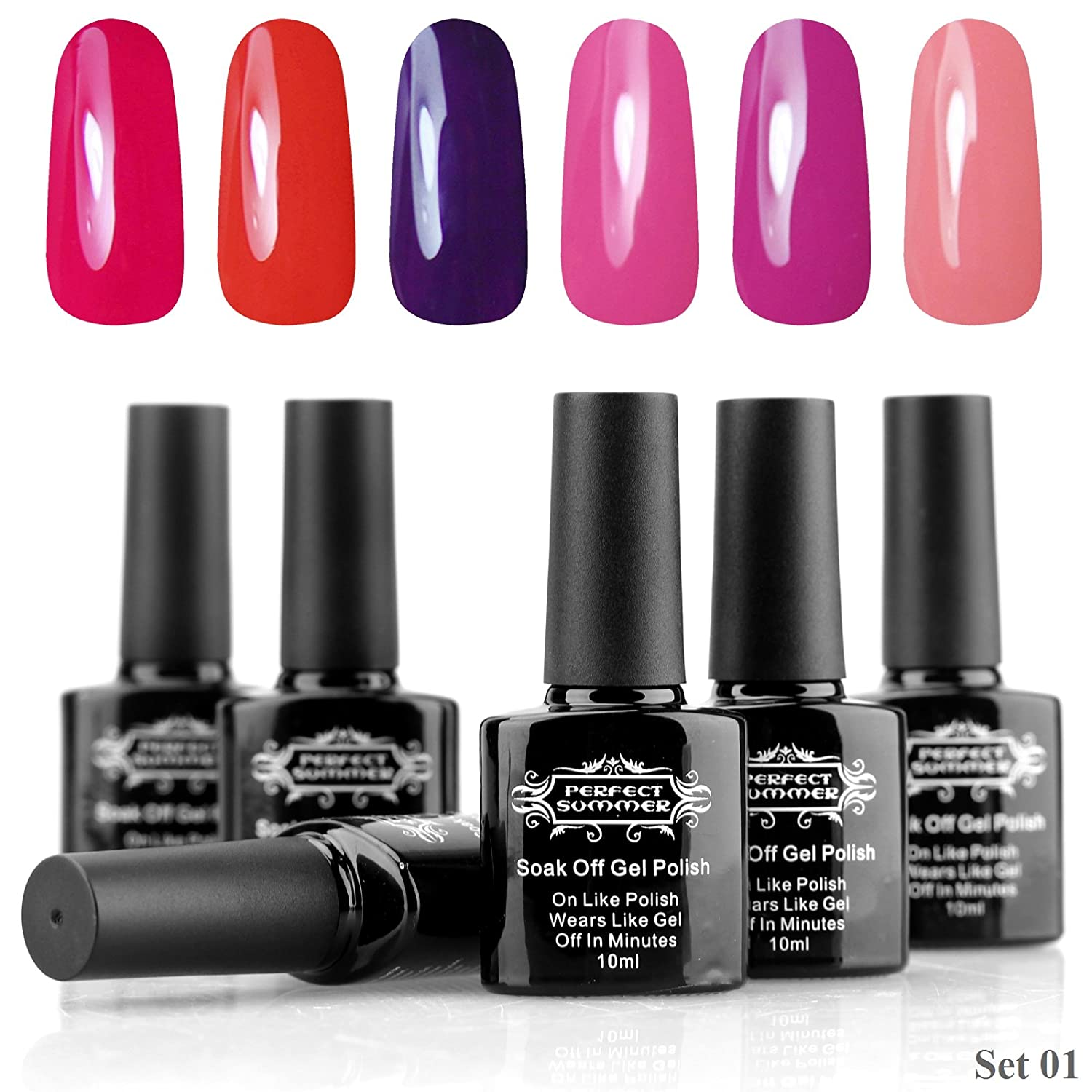 Amazon.com : Perfect Summer Gel Nail Polish Colors UV/LED Soak Off ...