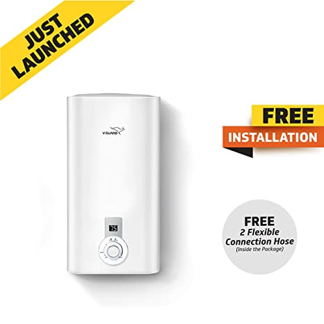 c1e362427eb V Guard Victo Plus 15 Litre Water Heater-Free Installation With Inlet and  Outlet Pipe