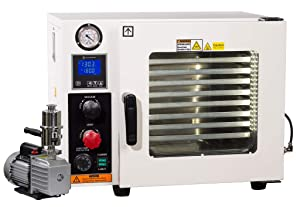 Across International AT09p7.110 Ai Vacuum Oven with 7 CFM Pump, 5 Sided Pad Heating, 0.9 cu ft