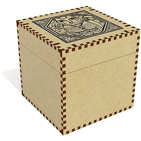 Azeeda Grande (81mm) Motivo Gótico del Gato Joyería Caja (JB00014898)