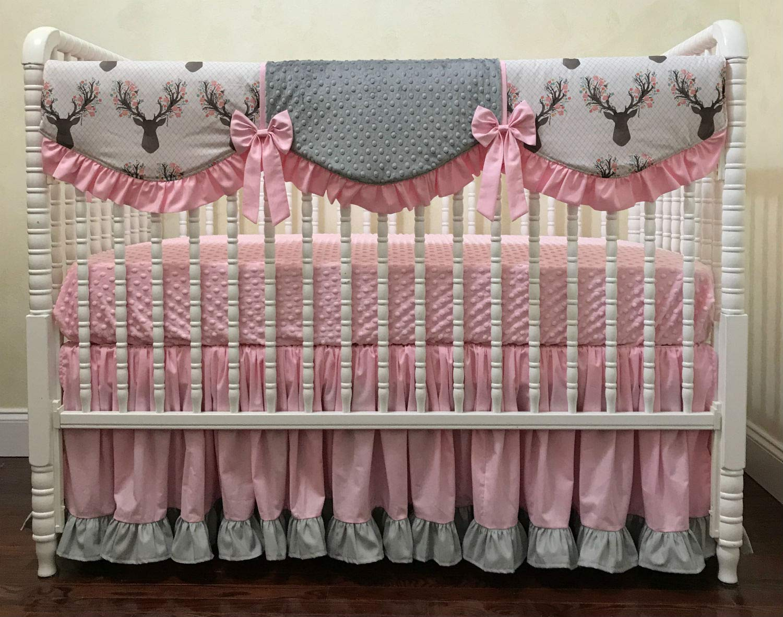 Pink Woodland Baby blanket