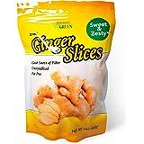 Paradise Green Uncrystallized Dried Ginger Slices Large Bag. 24 Ounce-680 Gram
