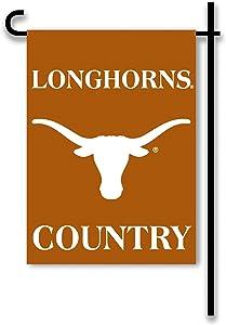 NCAA Texas Longhorns 2-Sided Country Garden Flag, Team Color