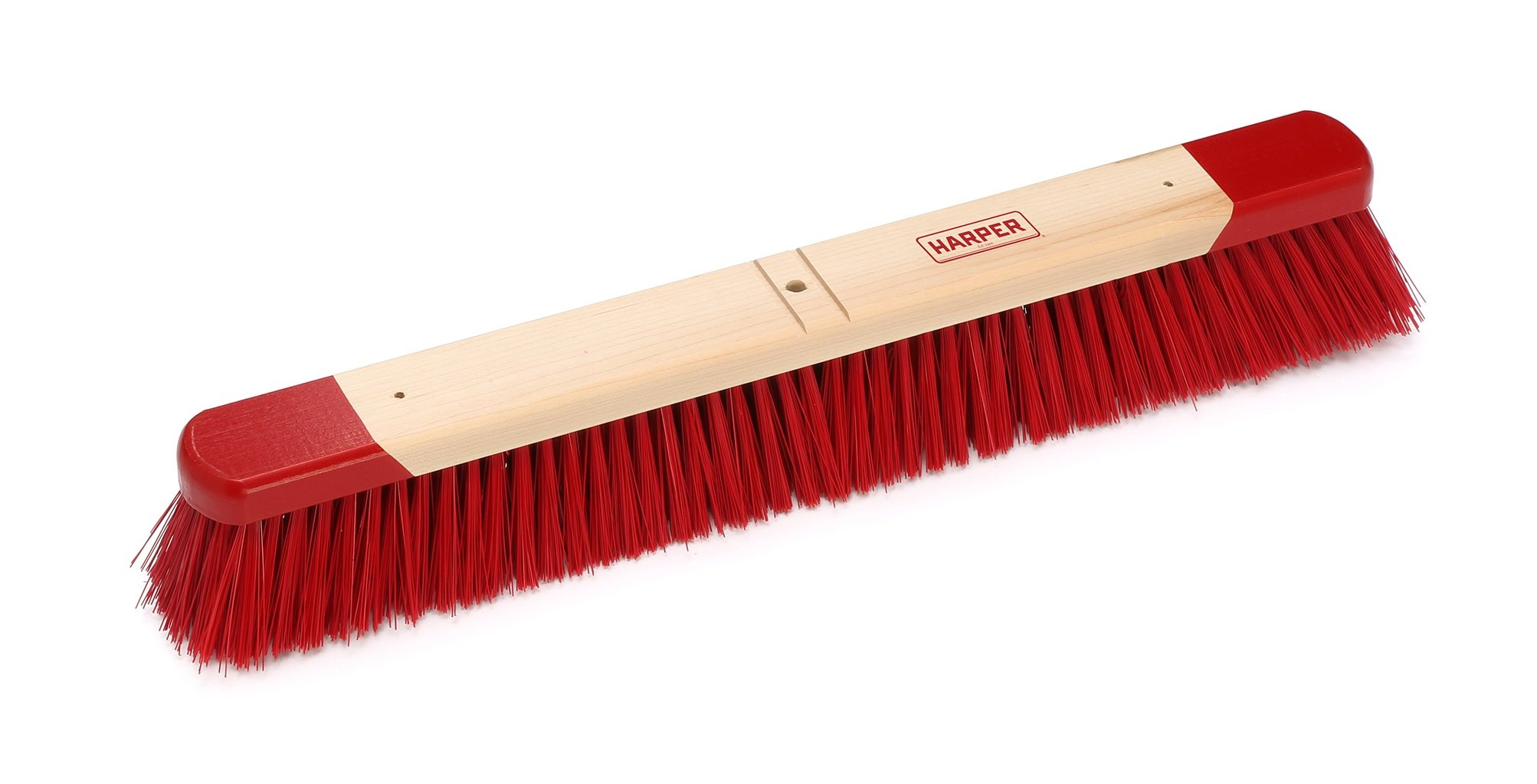 Harper Brush 732412 Broom Head, Polystyrene Fiber, All Purpose, Semi to Rough Wed or Dry Surface, Maple, 24'' (Pack of 6)