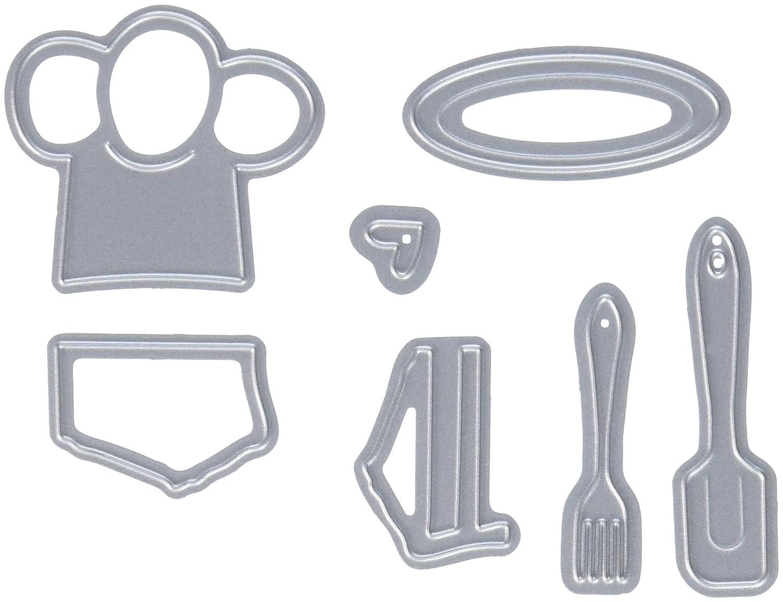 Elizabeth Craft Designs 337409 Pop It up Metal Dies by Karen Burniston Chef 1 to 1.5 Props 8