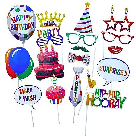 Gshy Photobooth - Decoración para Fiestas de cumpleaños (22 ...