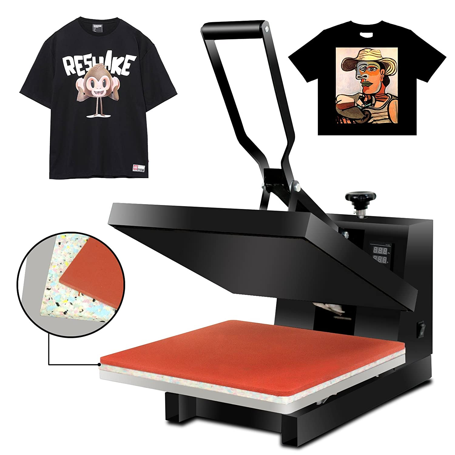 Super Deal 15 X 15 Digital Heat Press Clamshell Transfer Machine for T-Shirt