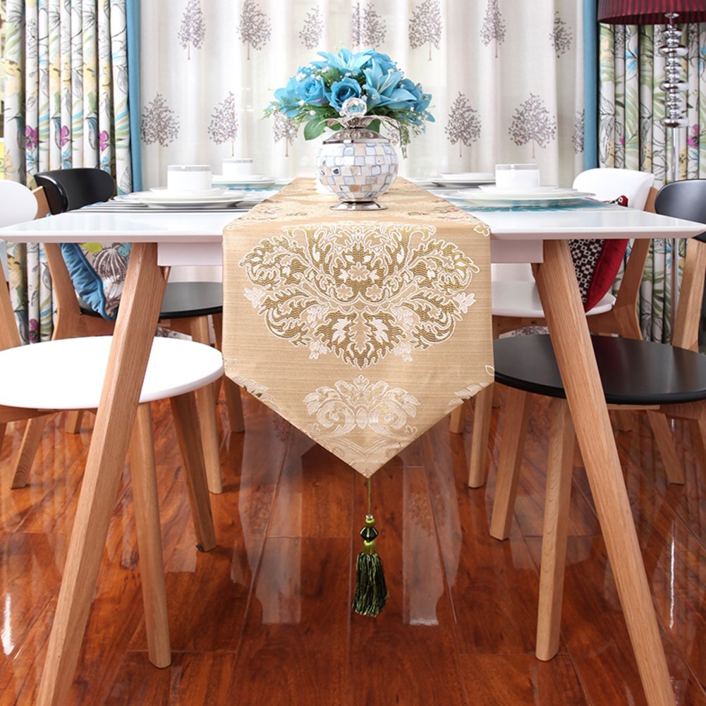 Table runner/european style,luxury, table runner /precision,jacquard,pattern tea table flag/bed runner-B 32x260cm(13x102inch)
