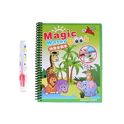 SUPVOX Libro mágico de dibujo de agua para colorear ...