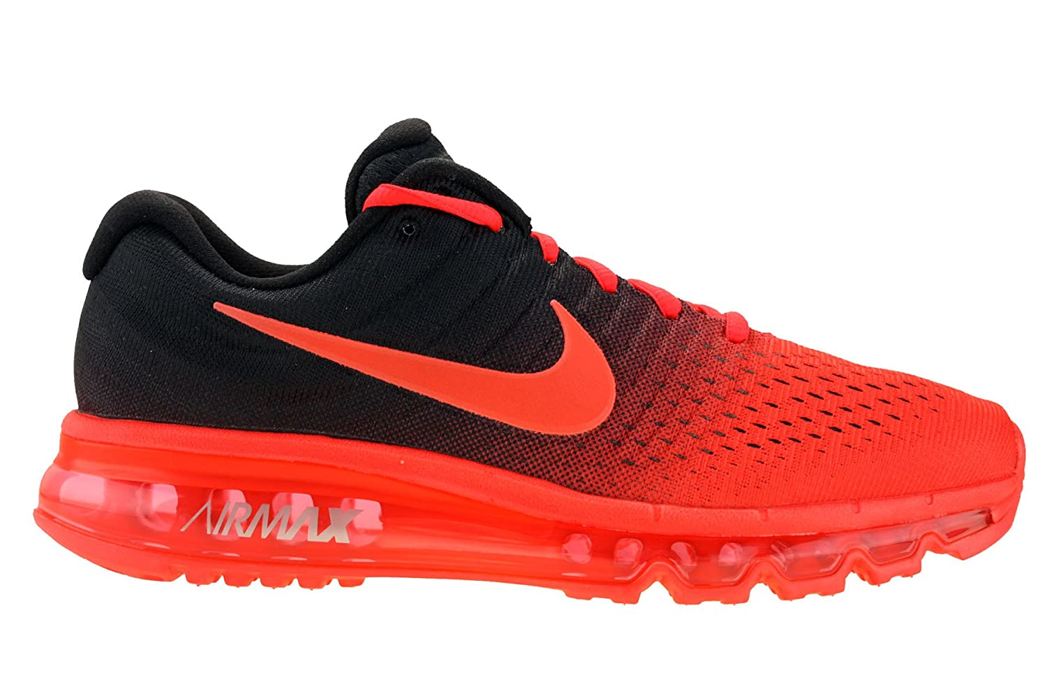 reputable site 56b58 848d4 Nike Mens Air Max 2017 Running Shoes Bright Crimson/Total Crimson/Black  849559-600 Size 12.5
