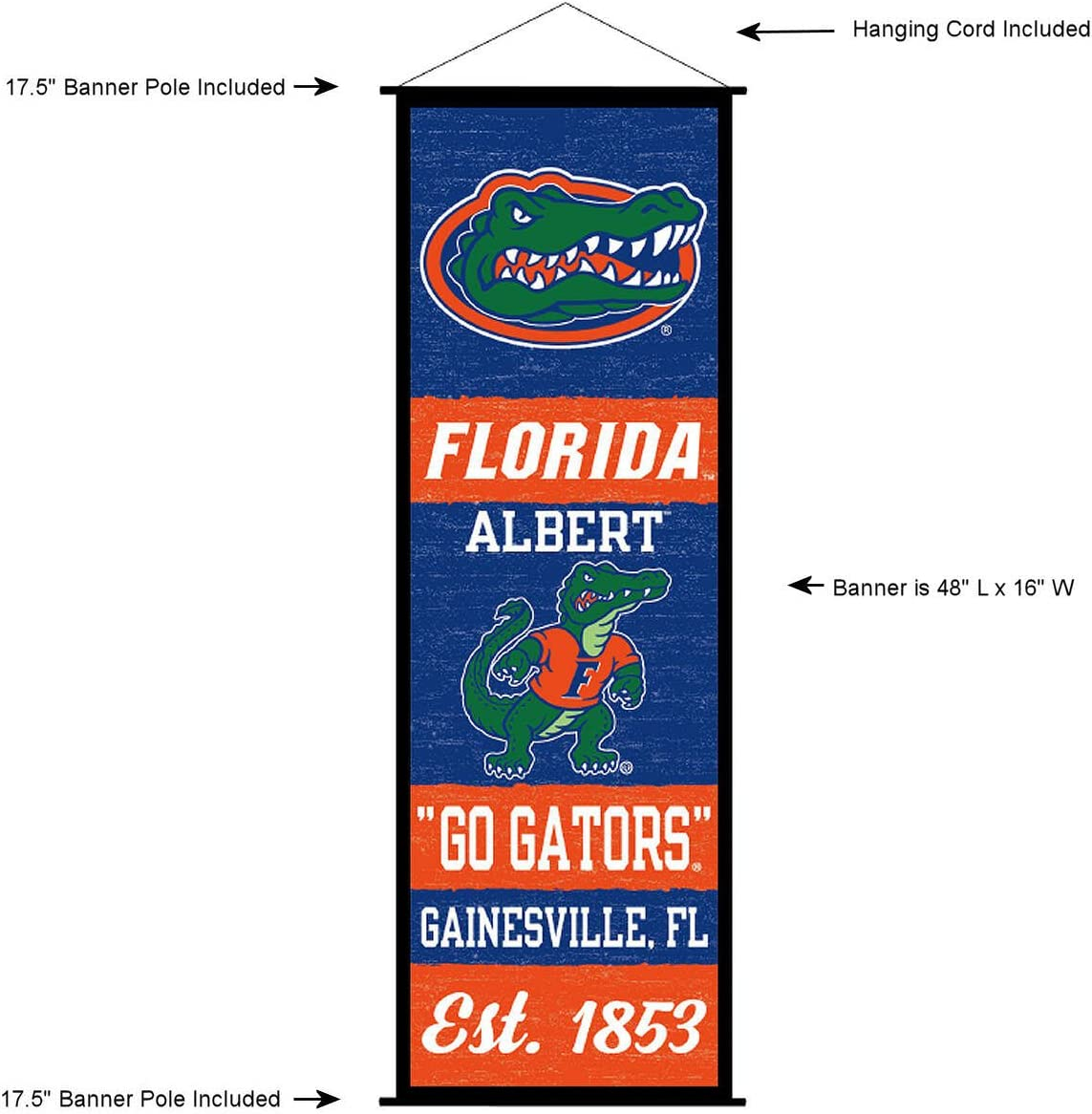 Winning Streak Florida Gators 14x38 Inch Framed Embroidered Heritage Banner