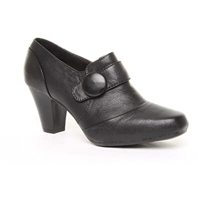 ebbdc04a86c320 Ladies Clarks Wide Fit Drift Away Black Leather Shoe Boots Size 3 ...