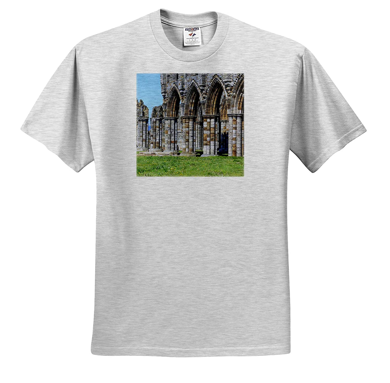 England Whitby Abbey North Yorkshire - Adult T-Shirt XL ts/_313878 England 3dRose Danita Delimont Whitby