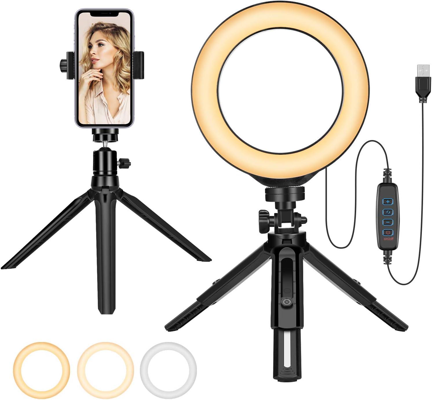 Make Up Ring Licht 6 Beauty Selfie Fotolicht Kit Mit Kamera