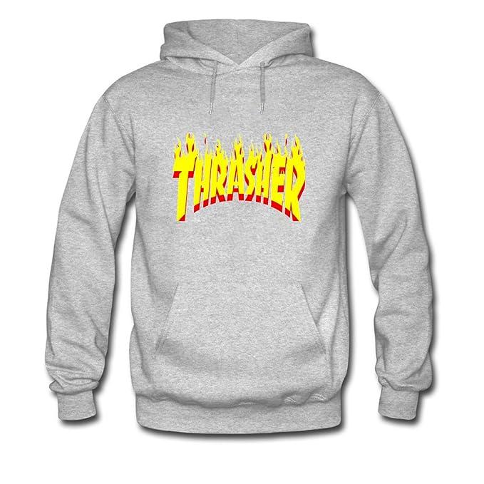 Thrasher Flame Hoodies - Sudadera con capucha - para niño gris gris Large: Amazon.es: Ropa y accesorios