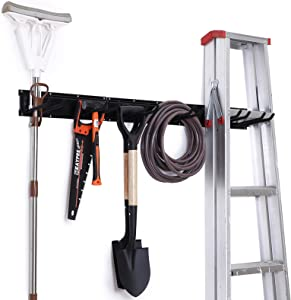 NETWAL Garage Organizer Wall Mount 9 Pack,Garden Tool Storage Racks,Adjustable ,Heavy Duty Metal Hanger,Max 265 lbs