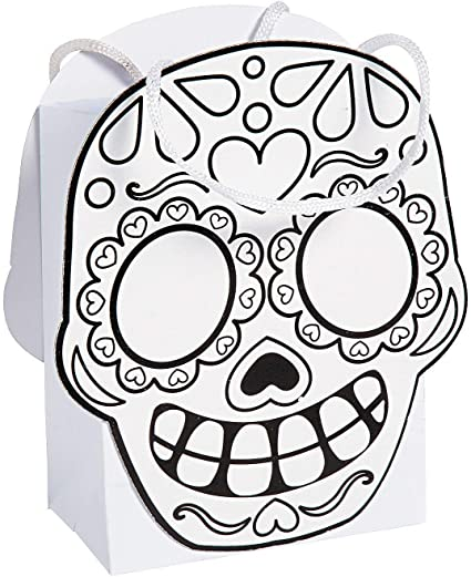 Color Your Own Day of the Dead Party Favor Treat Bags 12 ct Party Supplies SG/_B01DOB518W/_US