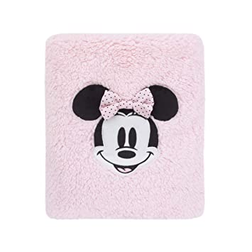 Amazon.com   Disney Minnie Mouse Super Soft Plush Sherpa Baby Blanket with  Applique c75a97a78