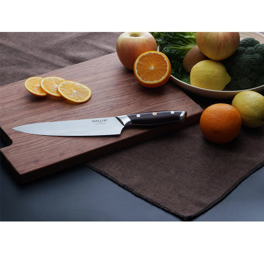 8' AUS-10 Core 67 Layers Damascus Chef Knife with G10 Handle and Wave Blade Pattern, Meat Cleaver, Vegetable Salad Chopper Cutter Knife by WALLOP VP by WALLOP (Image #7)