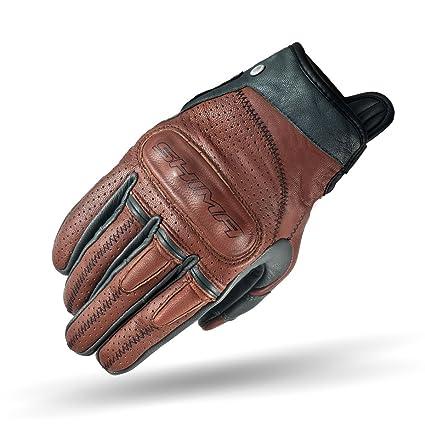 77078f1f7b6fd Amazon.com  SHIMA Caliber Mens Vintage Leather Motorcycle Gloves - Brown    XXL  Automotive