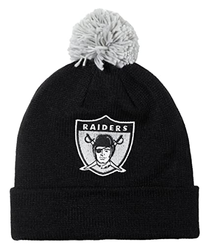 07c7f3db478f3 Image Unavailable. Image not available for. Color  Oakland Raiders Mitchell    Ness NFL Throwback Jersey Stripe Cuffed Knit Hat ...
