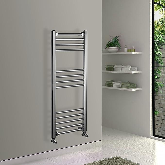 ENKI radiador toallero para baño diseño plano cromado 1000 x 400 mm: Amazon.es: Bricolaje y herramientas