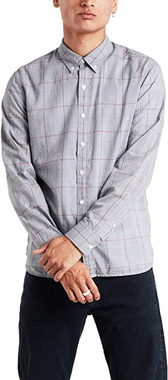 Camisa Levis Pacific Check Gris Hombre: Amazon.es: Ropa y accesorios