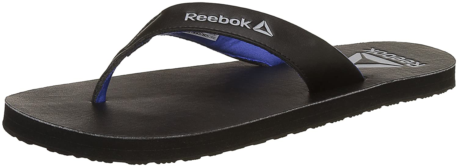 2b25e3dbc3870f Reebok Men s Advent Black Acid Blue Flip - 9 UK India (43 EU) (10 US)  Buy  Online at Low Prices in India - Amazon.in