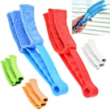 Window Blind Cleaner - 2 Clamps and 5 Removable Sleeves - Ideal Duster Cleaning Tool for Blinds, Shutters, Shades, Air Condit